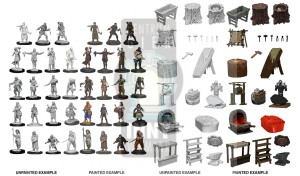 WizKids Deep Cuts Miniatures - Townspeople & Accessories