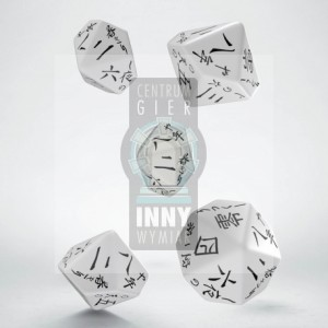 D10: Japanese Dice (white dice w. black ink) (5)