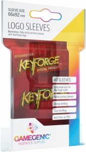 KeyForge - Logo Sleeves Red