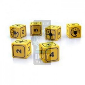 Alien RPG - Stress Dice Set- yellow