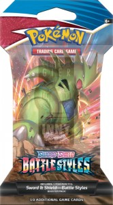 Pokemon TCG: Sword & Shield Battle Styles Sleeved Booster -> Gry Karciane Kolekcjonerskie > Pokémon > Boostery