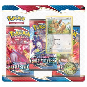 Pokemon TCG: Sword & Shield Battle Styles 3 Packs Blister -> Gry Karciane Kolekcjonerskie > Pokémon > Boostery