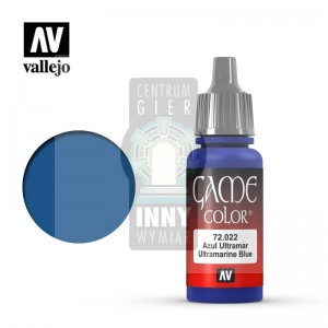 Vallejo Game Color 72.022 ULTRAMARINE BLUE -> Akcesoria > Farbki > Vallejo > Game Color