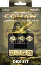 Conan RPG Player's Dice Set - beżowo-czarne