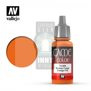 Vallejo Game Color 72.008 ORANGE FIRE -> Akcesoria > Farbki > Vallejo > Game Color