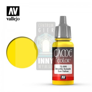 Vallejo Game Color 72.006 SUN YELLOW -> Akcesoria > Farbki > Vallejo > Game Color